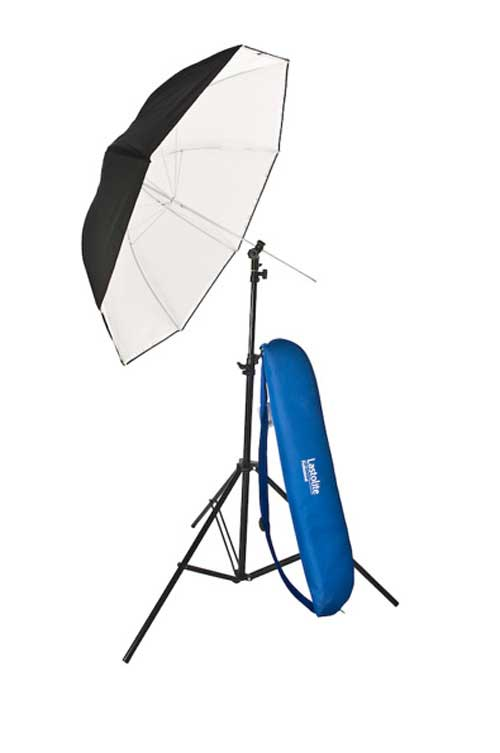 Lastolite Umbrella Kit 80Cm (34in) With Stand And Slide On Shoe Mount Tilthead
