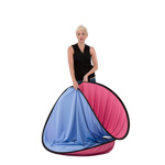 Lastolite Vibrant Plain Collapsible 1.8 X 2.15m (6x7ft) Blue / Pink