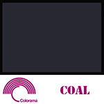 Colorama ColorMatt 1m x 1.3m PVC Sheet - Coal