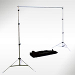 Interfit Background Support with Telescopic Crossbar - Small 2.4m(h) x 2.5m(w)