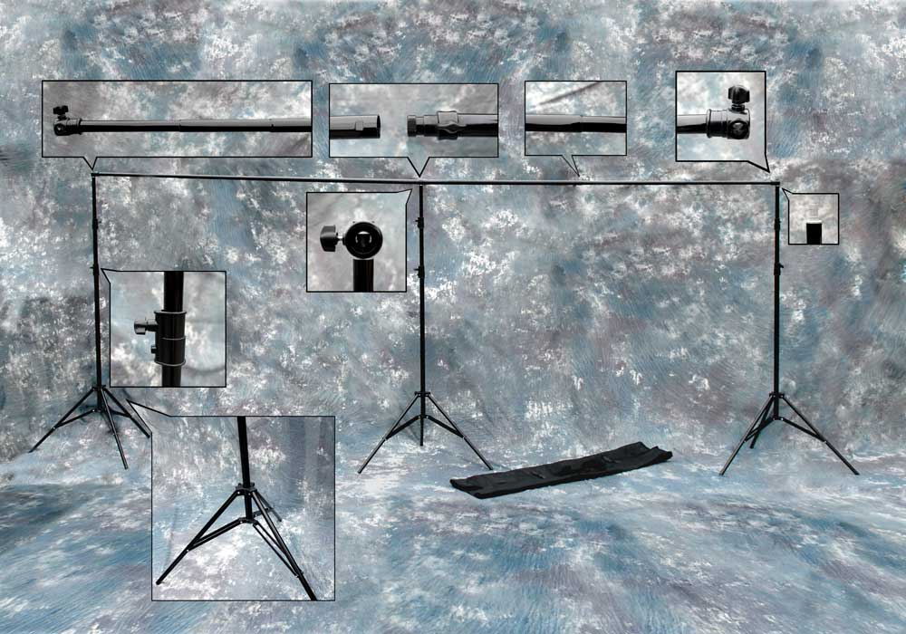 xxl large 6m heavy duty telescopic background support system stand